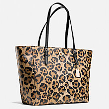 Buy Coach Turnlock Leather Tote Bag, Leopard Online at johnlewis.com