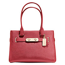 Buy Coach Swagger Carryall Leather Bag Online at johnlewis.com
