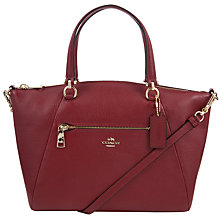 Buy Coach Prairie Leather Satchel, Cherry Online at johnlewis.com