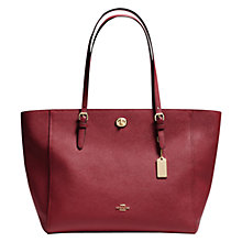 Buy Coach Turnlock Leather Tote Bag Online at johnlewis.com