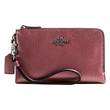 Buy Coach Double Corner Zip Purse, Red Online at johnlewis.com