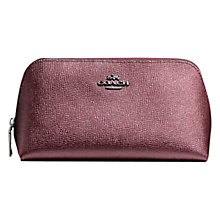 Buy Coach Leather Cosmetic Case Online at johnlewis.com