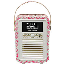 Buy View Quest Retro Mini DAB/FM Bluetooth Digital Radio, Emma Bridgewater Patterns Online at johnlewis.com