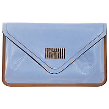 Buy Miss Selfridge Metal Frame Clutch Bag, Blue Online at johnlewis.com
