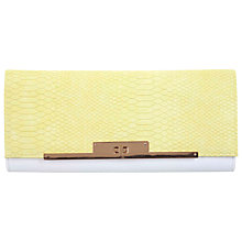 Buy Miss Selfridge Croc Lock Clutch Bag Online at johnlewis.com