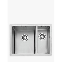 Buy John Lewis Undermount 1.5 Right Hand Bowl Sink, Stainless Steel Online at johnlewis.com