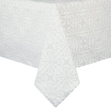 Buy John Lewis Snowflake Tablecloth, L160 x W320cm Online at johnlewis.com