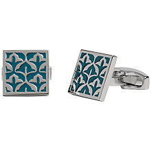 Buy Simon Carter Exclusive Damask Cufflinks, Turquoise Online at johnlewis.com