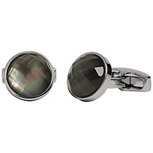 Buy Simon Carter Grey Mother of Pearl Faceted Crystal Cufflinks, Grey Online at johnlewis.com