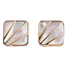 Buy Simon Carter Mother of Pearl Deco Fan Cufflinks, Pink Online at johnlewis.com