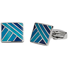 Buy Simon Carter Enamel Gradient Cufflinks, Blue Online at johnlewis.com