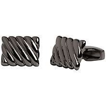 Buy Simon Carter Brass Pillow Cufflinks, Silver Online at johnlewis.com