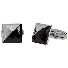 Buy Simon Carter Facetted Onyx Square Cuffs, Silver Online at johnlewis.com