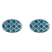 Buy Simon Carter Cycloid Cufflinks, Light Blue Online at johnlewis.com
