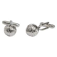Buy Simon Carter Textured Ball Cufflinks, Silver Online at johnlewis.com
