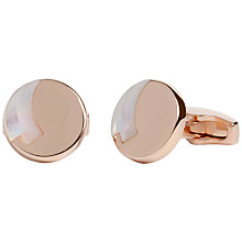 Buy Simon Carter Rondo Mother of Pearl Cufflinks, Rose Gold Online at johnlewis.com
