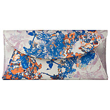 Buy L.K. Bennett Flo Textile Fold-Over Clutch Bag, Multi Online at johnlewis.com