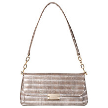 Buy L.K. Bennett Heidi Leather Shoulder Bag, Silver Online at johnlewis.com
