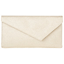 Buy L.K. Bennett Leonie Asymmetric Clutch Bag, Soft Gold Online at johnlewis.com