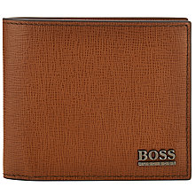 Buy BOSS Moler Leather Wallet, Tan Online at johnlewis.com
