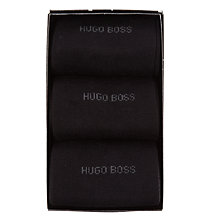 Buy BOSS Logo Socks Gift Set, One Size, Pack of 3, Black Online at johnlewis.com