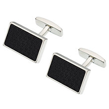 Buy BOSS Robi Geo Pattern Cufflinks, Black Online at johnlewis.com
