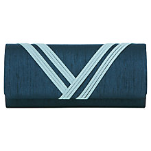 Buy Jacques Vert Banded Detail Bag, Mid Blue Online at johnlewis.com