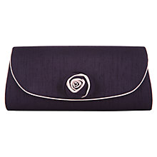 Buy Jacques Vert Two Tone Flower Bag, Dark Purple Online at johnlewis.com