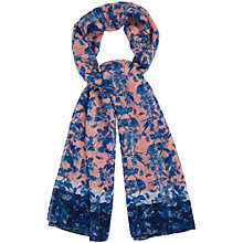 Buy Oasis Alana Bird Print V&A Scarf, Multi Online at johnlewis.com
