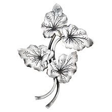 Buy Sharon Mills Vintage N.E. From Silver 4 Leaves Brooch, Silver Online at johnlewis.com