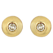 Buy Sharon Mills Vintage 9ct Gold Diamond Stud Earrings, Gold Online at johnlewis.com