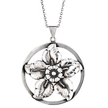 Buy Sharon Mills Vintage Silver Round Flower Pendant, Silver Online at johnlewis.com