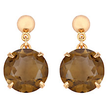 Buy Sharon Mills Vintage Gold Smoky Quartz Drop Earrings, Gold Online at johnlewis.com