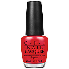 Buy OPI Coco Cola Red Nail Lacquer, 15ml Online at johnlewis.com
