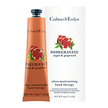 Buy Crabtree & Evelyn Pomegranate, Argan & Grapeseed Hand Therapy Cream, 50g Online at johnlewis.com