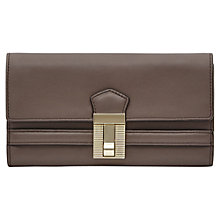 Buy Reiss Lock Detail Long Wallet, Brown Online at johnlewis.com