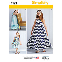 Buy Simplicity Children's Pullover Dresses Sewing Pattern, 1121 Online at johnlewis.com