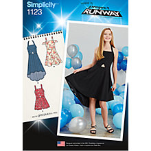 Buy Simplicity Girls' Dress And Romper Sewing Pattern, 1123 Online at johnlewis.com