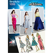 Buy Simplicity Women's Sleeveless Top and Skirts Sewing Pattern, 1099 Online at johnlewis.com
