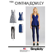 Buy Simplicity Cynthia Rowley Women's Separates Sewing Pattern, 1104 Online at johnlewis.com