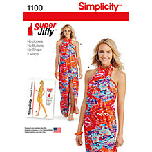 Buy Simplicity Women's Jiffy Sarong Sewing Pattern, 1100 Online at johnlewis.com