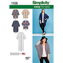 Buy Simplicity Women's Kimonos Sewing Pattern, 1108 Online at johnlewis.com