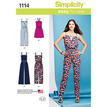 Buy Simplicity Women's Dress and Jumpsuit Sewing Pattern, 1114 Online at johnlewis.com