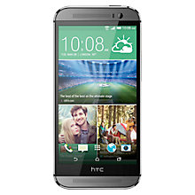 "Buy HTC One M8S Smartphone, Android, 5"", 4G LTE, SIM Free, 16GB, Grey Online at johnlewis.com"