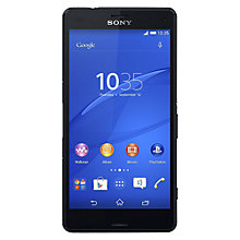 "Buy Sony Xperia Z3 Compact Smartphone, Android, 4.6"", 4G LTE, SIM Free, 16GB Online at johnlewis.com"