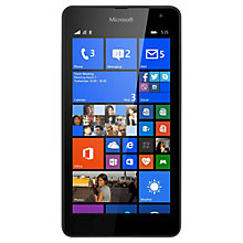 "Buy Microsoft Lumia 535 Smartphone, Windows Mobile, 5"", 3G, SIM Free, 8GB Online at johnlewis.com"