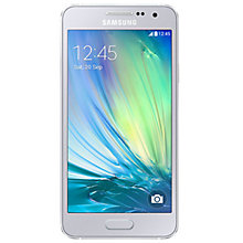 "Buy Samsung Galaxy A3 Smartphone, Android, 4.5"", 4G LTE, SIM Free, 16GB Online at johnlewis.com"