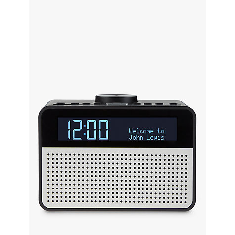 buy john lewis astro dab fm digital clock radio with alarm lcd display. Black Bedroom Furniture Sets. Home Design Ideas