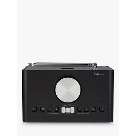 buy john lewis astro dab fm digital clock radio with. Black Bedroom Furniture Sets. Home Design Ideas
