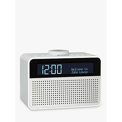 pure siesta rise dab clock radio white grey white radios. Black Bedroom Furniture Sets. Home Design Ideas